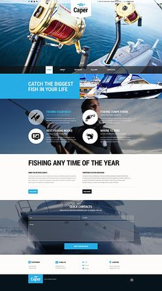 Offshore Fishing Club #website #template. #themes #business #responsive