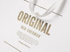To compliment the new Ben Sherman store, a brand new companion set of store packaging and collateral was created.