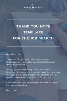 how to write a post interview thank you letter a template