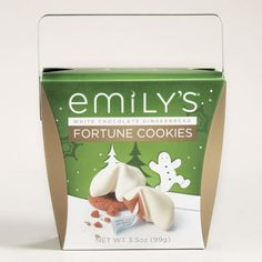 One of my favorite discoveries at WorldMarket.com: Emily's White Chocolate Gingerbread Fortune Cookies
