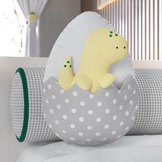 Baby Pillows, Throw Pillows, Die Dinos Baby, Mini Crib, Fabric Toys, Dinosaur Toys, Crib Bedding Sets, Baby Kind, Baby Cribs