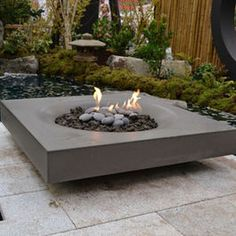 Contemporary Fire Pit Love Gas Table Wall