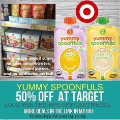 Target Deal Best baby food on the market and 1/2 off!! GO to link in my bio @tomorrowsmom for details . . . . Visit My Blog: TomorrowsMom.com |Organic & Natural Deals|Family Savings Deals| . TAG OR DM THIS DEAL 2 A FRIEND . . #frugal #savings #deals #cosmicmothers  #organic #fitmom #health101 #change #nongmo #organiclife #crunchymama #organicmom #gmofree #organiclifestyle #familysavings  #healthyhabits #lifechanging #fitpeople #couponcommunity #deals  #healthyppl #motherhood…