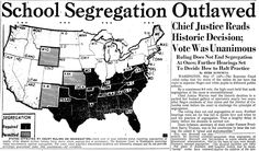 "A newspaper article about the historic U.S. Supreme Court decision Brown v. Board of Education of Topeka, which ruled that segregation in public schools was unconstitutional, published in the Advocate newspaper (Baton Rouge, Louisiana), 18 May 1954. Read more on the GenealogyBank blog: ""17 May 1954: Supreme Court Rules against School Segregation."" http://blog.genealogybank.com/17-may-1954-supreme-court-rules-against-school-segregation.html"