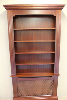 Belgravia Radiator Cabinet With Bookcase In Mahogany