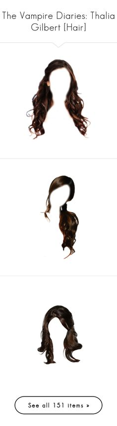"""The Vampire Diaries: Thalia Gilbert [Hair]"" by demiwitch-of-mischief ❤ liked on Polyvore featuring hair, doll hair, dolls, cabelo, doll parts, wigs, hairstyles, beauty products, haircare and hair styling tools"