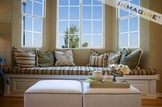 Love the stripes....if we get that house this would be perfect for our bay window!!! :)