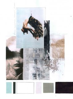 "Fashion Moodboard - fashion design research & development; ""Parallel Worlds"" collection colourboard // Mirjam Maeots"