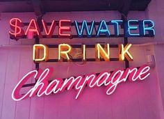 We love a motto like this, especially champagne in one of our Disco Drink tumblers
