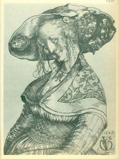 Urs Graf (ca. 1485 - ca. 1529). Lächelnde junge Frau.