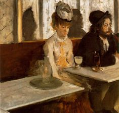 Happy birthday to the painter of the Ballerinas! Edgar Degas In a café (The Absinthe drinker) 187576 oil on canvas 92 x cm Musée dOrsay Paris Lemoisne 393 RMN-Grand Palais (musée dOrsay) / Martine Beck-Coppola Edgar Degas, Absinthe Drinker, Degas Paintings, Infinite Art, Traditional Paintings, Figure Painting, Artist Painting, Magazine Art, Famous Artists