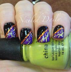 DIY Halloween Nails : Halloween Crackle