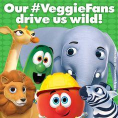 Our drive us wild! Veggie Tales Party, Veggietales, Cupcake Recipes, Veggies, Entertaining, Fan, Vegetable Recipes, Vegetables, Hand Fan