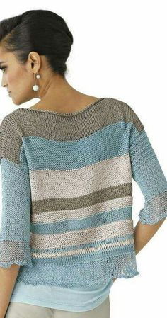 knitting inspiration (no pattern) Summer Knitting, Knitting Wool, Hand Knitting, Vogue Knitting, Crochet Cardigan Pattern, Knit Patterns, Knit Crochet, Knit Fashion, Knitting Designs
