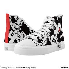 Mickey Mouse   Crowd Pattern. Disney. Producto disponible en tienda Zazzle. Calzado, moda. Product available in Zazzle store. Footwear, fashion. Regalos, Gifts. Link to product: http://www.zazzle.com/mickey_mouse_crowd_pattern_printed_shoes-256509052364383414?CMPN=shareicon&lang=en&social=true&rf=238167879144476949 #zapatillas #shoes #disney