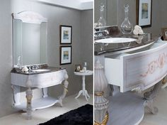 Why only romanticise your bathroom for Valentine's Day when you can add a continuous romantic essence throughout the year!These beautiful, stylish GamaDecor vanity units from PORCELANOSA in TileStyle are one way of romanticising your bathroom indefin Romantic Bathrooms, Bathroom Furniture, Bathroom Vanities, Vanity Units, Classic Furniture, Double Vanity, Luxury Homes, Modern, Home Decor