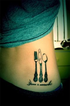 """Cool silverware but script is stupid. """"Food is important""""? give me a break."""