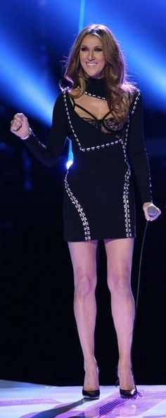 Celine Dion in Atelier Versace performs on the season finale of NBC's 'The Voice'. #bestdressed