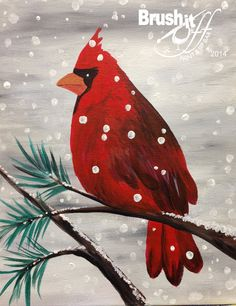 RED CARDINAL 11X14 canvas <br>
