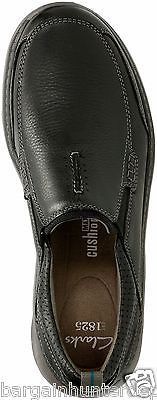 New Clarks Men's Casual Charton Step Slip-On Loafer Black Leather 26114995