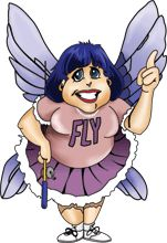"The beloved avatar of ""The FlyLady"" reminding us to do it now, no whining and to be nice to ourselves"