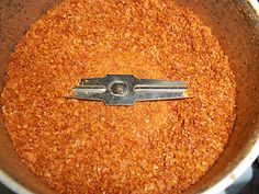 Good use for leftover tomato skins after canning tomatoes... spice blend, brilliant!