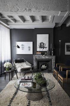 Interieur inspiratie | Pinterest - Zwart wit, Zwart en Interieur