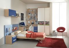 Blue and White Teen Room Decorating