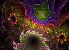 Psychedelic Garden by CopperScaleDragon.deviantart.com on @DeviantArt