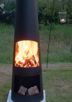 Buy Contemporary steel chiminea circo: Delivery by Waitrose Garden in association with Crocus
