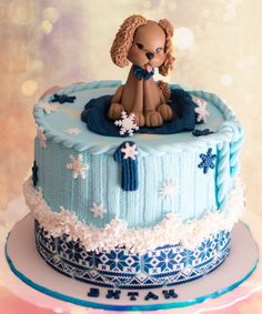 Winter Cutie Birthday Cake by Delice CakesDecor