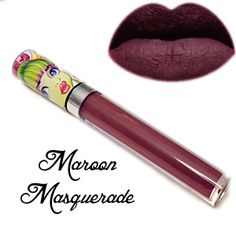 Maroon Masquerade Matte Liquid Lipstick - Makeup Monsters Maroon Masquerade is best described as a chocolatey purple that goes on as a liquid and dries to a matte finish.