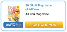 $0.50 Off May Issue of All You