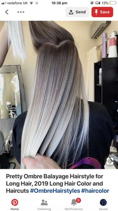 we rounded up 30 hair color ideas you can try if you have lo.- we rounded up 30 hair color ideas you can try if you have long hair! we rounded up 30 hair color ideas you can try if you have long hair! 30 Hair Color, Hair Color Shades, Ombre Hair Color, Hair Color Balayage, Hair Highlights, Balayage Hairstyle, Grey Ombre, Color Highlights, Hair Colours