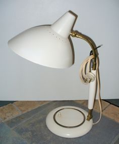 Beautiful Italian table lamp, '50s, Size:h.40 cm. Very good original condition. Electric wire original. In the manner of Arteluce. design1958@gmail.com www.design1958.com