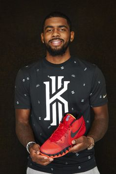 046d75391 NBA superstar Kyrie Irving with his first Nike signature shoe KYRIE 1 in  the global release