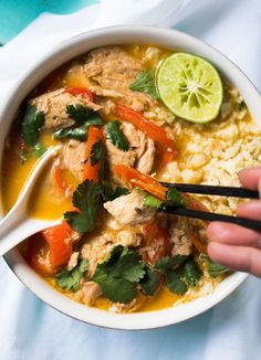 Whole30, Paleo & Keto Thai Coconut Curry Chicken The Easy-Peasy Version! #keto #paleo #healthyrecipes #dairyfree #ketodiet