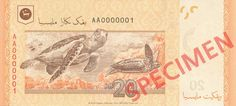 As ambassadors of the rich and colourful marine life found in our tropical waters, two of the most well-known species of sea turtles endemic to Malaysian waters are on the new RM20 banknote - the Hawksbill Turtle (Eretmochelys imbricata) and Leatherback Turtle (Dermochelys coriacea).  Find our more at http://www.bnm.gov.my/microsites/2011/banknotes/index.htm