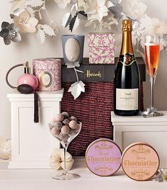 Harrods plus Chocolatier plus Champagne