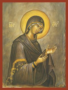 Byzantine Iconography - The Virgin Mary Byzantine Icons, Byzantine Art, Religious Icons, Religious Art, Madonna, Greek Icons, Art Icon, Orthodox Icons, Blessed Mother