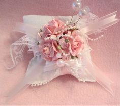 Gorgeous Sachet Pinkeep Pincushion Pink Rose Shabby N Chic | eBay
