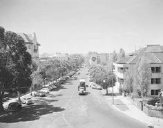 St Georges Terrace in Perth, Western Australia in Perth Western Australia, Saint George, Photographs, Photos, Countryside, The Good Place, Terrace, Lost, Black And White