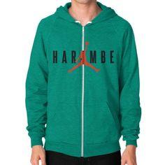 Harambe X Jordan Zip Hoodie (on man)