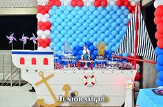 decoração festa tema marinheiro