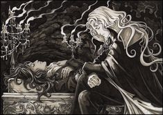 "Picture to Russian fanfiction by Nightday [link] Alucard has a nightmare of Richter's death. Alucard and Richter Belmont from videogame ""Castlevania: Sy. Castlevania Dracula, Alucard Castlevania, Castlevania Netflix, Fantasy Kunst, Dark Fantasy Art, Fantasy Artwork, Gothic Artwork, Fantasy Heroes, Vampire Hunter D"