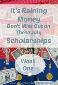 I LOVE this site, there are two to three new scholarships posted each week, so you don't get overwhelmed. July Scholarships are here!  Don't miss out on these opportunities with early July  deadlines. Repin to remember and check back next week.