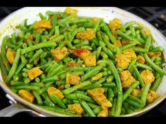Curry Pork With String Beans - Tasty Tuesday's | CaribbeanPot com - YouTube