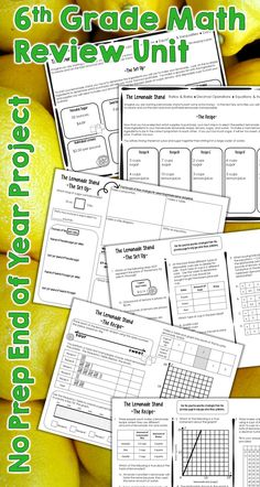 Review ratios, rates, equations, inequalties and much more with this no prep end of the year project for 6th grade math.  Get ready for STAAR or any other state test in a creative way!