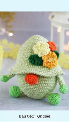 Easter Gnome - crochet pattern gnome/ Farmhouse Easter Spring Decor/ Easter Gift Decor/ Easter Eggs crochet pattern Set/ crochet pattern egg