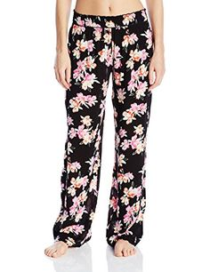 Kensie Women's Long Sleep Lounge Pant Crinkle Woven  Relax in style with these wide leg pants made from 100 percent viscose rayon woven. Choose from two prints for versatile situations. Two inch wide elastic waistband Two inch wide elastic waistband Three inch panel down side seam on either side  http://www.allsleepwear.com/kensie-womens-long-sleep-lounge-pant-crinkle-woven/